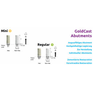 GoldCast Abutments