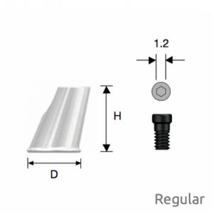 Convertible  Abgewinkelter Zylinder Regular D6 x H8 Octa