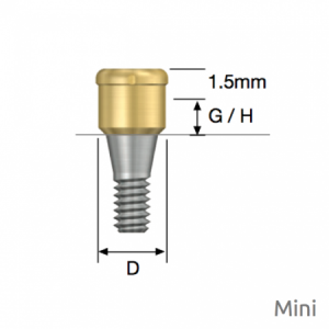 Port Abutment für LOCATOR® Mini D3.7 x G/H1.0