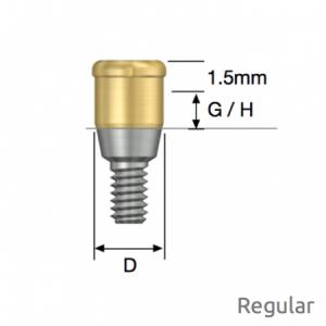 Port Abutment für LOCATOR® Regular D3.7 x G/H1.0