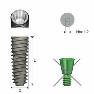 Implantat - TS III Fixture Regular D4.5 x L10 No-Mount für die OneGuide Anwendung
