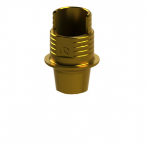 Ti-Base + Screw compatible with Camlog® Conelog® 3.8-4.3 G/H 1.0 - Non-Engaging (R)