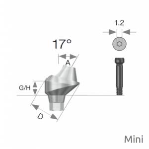Multi Winkel Abutment Mini D4.8 x A17 x G/H4.0