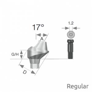 Multi Winkel Abutment Regular D4.8 x A17 x G/H4.0