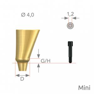 FreeForm Abutment Mini D4 x G/H3.0 Non-Hex