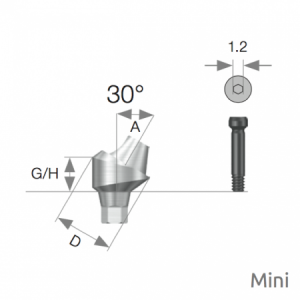 Multi Winkel Abutment Mini D4.8 x A30 x G/H4.0