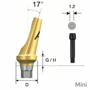 Abgewinkeltes Abutment Mini Hex A Type D4.5 x G/H4.0