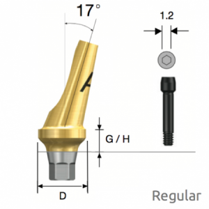 Abgewinkeltes Abutment Regular Hex A Type D5 x G/H4.0