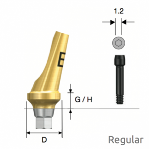 Abgewinkeltes Abutment Regular Hex B Type D5 x G/H4.0