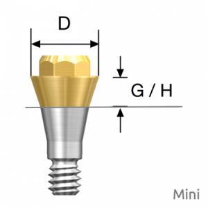 Convertible Abutment Mini D4.0 x G/H1.0