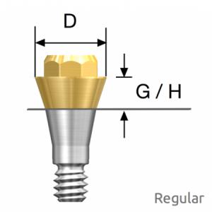 Convertible Abutment Regular D4.0 x G/H4.0