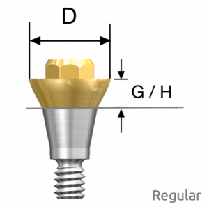 Convertible Abutment Regular D5.0 x G/H1.0