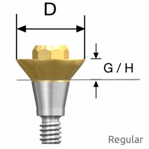 Convertible Abutment Regular D6.0 x G/H1.0