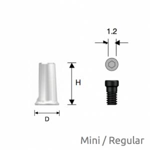 Convertible Kombinations-Zylinder Mini/Regular D4 x H7 Hex