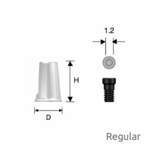Convertible Kombinations-Zylinder Regular D5 x H7 Octa