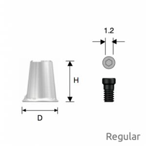 Convertible Kombinations-Zylinder Regular D6 x H7 Octa
