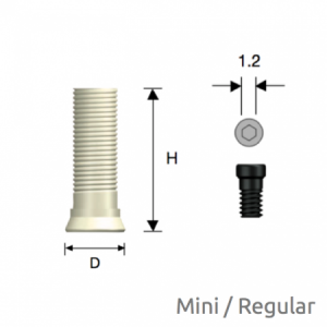 Convertible Plastik Zylinder Mini/Regular D4.0 Hex
