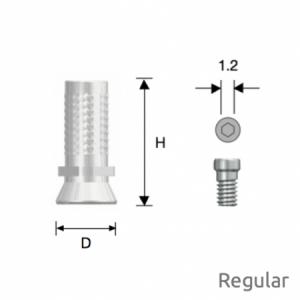 Convertible Provisorischer Zylinder Regular D5.0 Octa