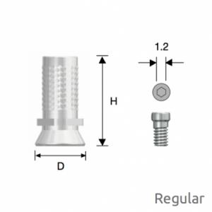 Convertible Provisorischer Zylinder Regular D6.0 Octa