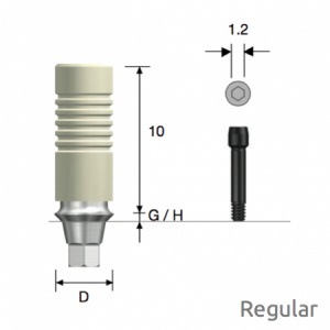 GoldCast Abutment Regular D4.5 x G/H3.0 Hex