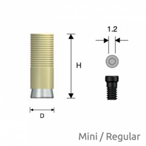 Convertible GoldCast Zylinder Mini/Regular D4.0 Hex