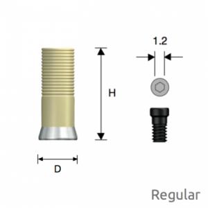 Convertible GoldCast Zylinder Regular D5.0 Octa
