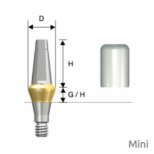 Rigid Abutment Mini D4.0 x H5.5 x G/H4.0