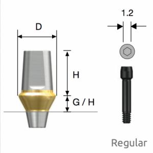 Transfer Abutment Regular D4.5 x H5.5 x G/H1.0 Non-Hex