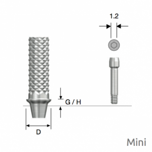 Temporäres Abutment Mini D4.0 x G/H1.0 Non-Hex