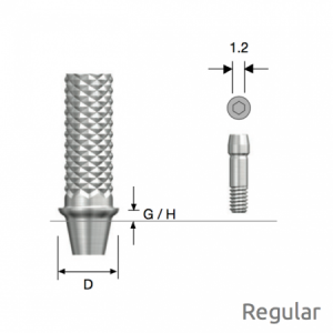 Temporäres Abutment Regular D4.5 x G/H1.0 Non-Hex