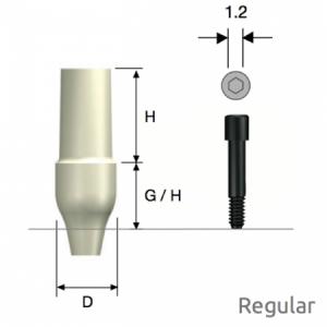 ZioCera Abutment Regular D4.5 x H7.0 x G/H3.5 Non-Hex