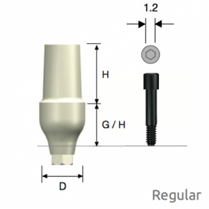 ZioCera Abutment Regular D5.5 x H7.0 x G/H3.5 Hex