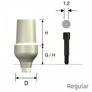 ZioCera Abutment Regular D6.5 x H7.0 x G/H3.5 Hex