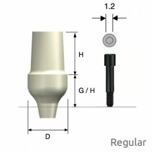 ZioCera Abutment Regular D6.5 x H7.0 x G/H5.0 Non-Hex