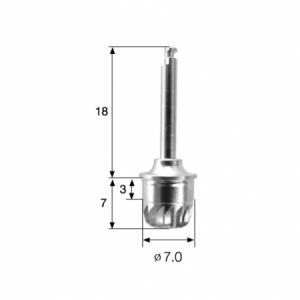 Kuppel Bohrer - Wide Dome Drill 7.0 - LAS