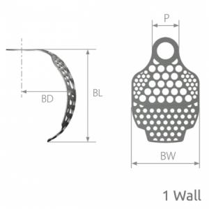 SmartBuilder 1 Wall Titanium Membrane P=4 x BW=10 x BL=9