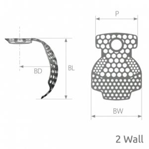 SmartBuilder 2 Wall Titanium Membrane P=12 x BW=12 x BL=7