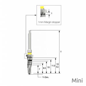 Taper Bohrer - Taper Drill F3.5 x L13 Mini