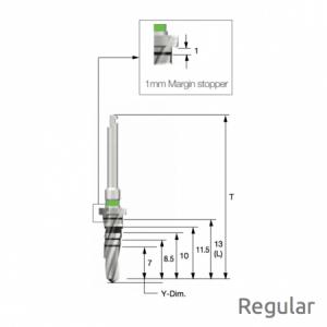 Taper Bohrer - Taper Drill F4.0 x L8.5 Regular
