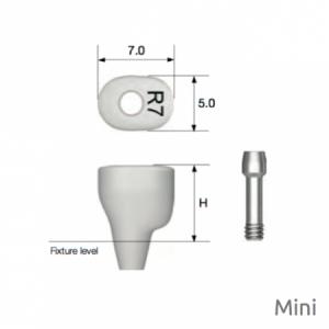 Individueller PEEK Gingivaformer - Custom Healing Abutment Mini H7.0