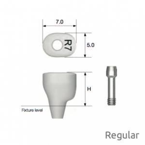 Individueller PEEK Gingivaformer - Custom Healing Abutment Regular H5.0