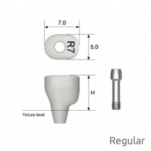 Individueller PEEK Gingivaformer - Custom Healing Abutment Regular H7.0