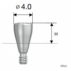 Gingivaformer - Healing Abutment D4.0 x H3.0 Mini