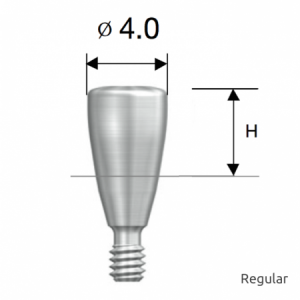 Gingivaformer - Healing Abutment D4.0 x H4.0 Regular