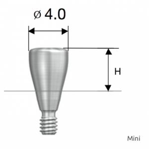 Gingivaformer - Healing Abutment D4.0 x H5.0 Mini