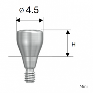 Gingivaformer - Healing Abutment D4.5 x H4.0 Mini
