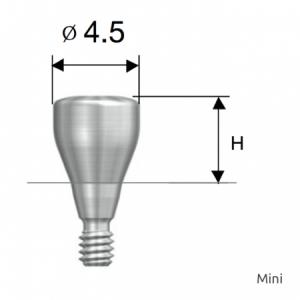 Gingivaformer - Healing Abutment D4.5 x H5.0 Mini