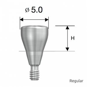 Gingivaformer - Healing Abutment D5.0 x H4.0 Regular