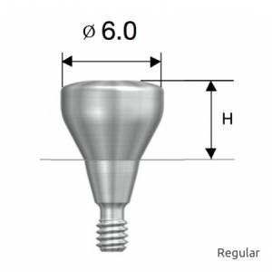 Gingivaformer - Healing Abutment D6.0 x H4.0 Regular