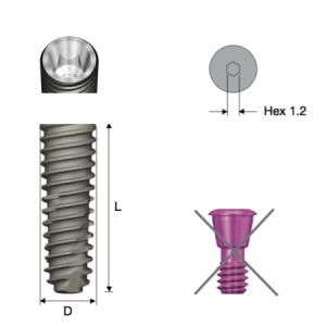 Implantat - TS III Fixture Mini D3.5 x L15 No-Mount für die OneGuide Anwendung